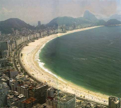 Рио-де-Жанейро, пляж. Нажмите для увеличения фотографии.