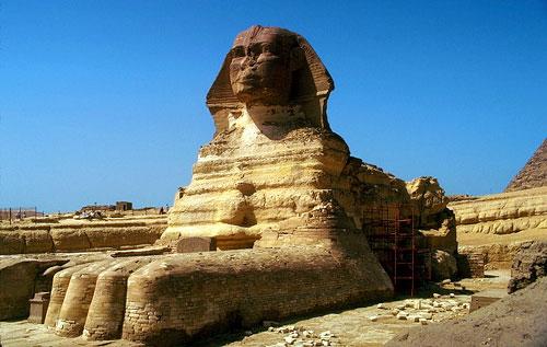 Гиза сфинкс с лицом фараона хефрена