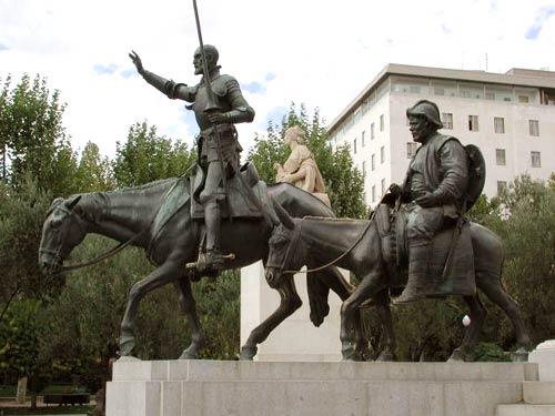 Испания мадрид монумент дон кихота и