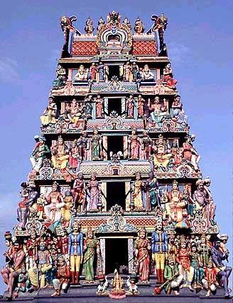 Индийский храм богини шри марьяман